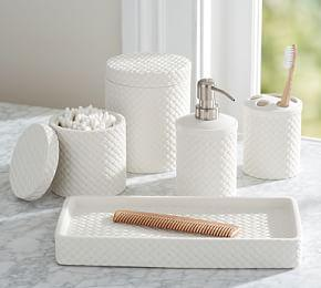 Porcelain Basketweave Accessories