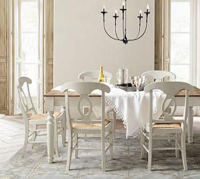 Faye Fixed Dining Table & Napoleon Chair 6-Piece Dining Set