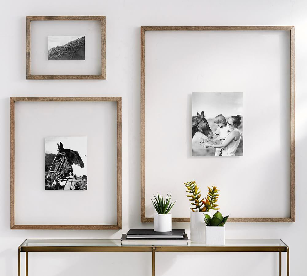 Floating Wood Gallery Frames Pottery Barn Ca