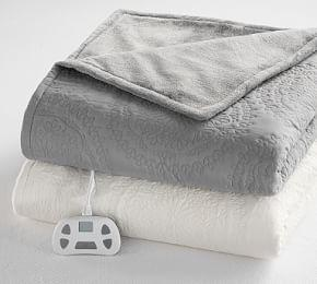 Medallion Cotton Heated Blanket