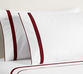 Morgan 400-Thread-Count Organic Sheet Set - Ruby