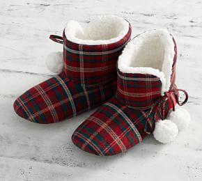 Lynbrook Plaid Booties