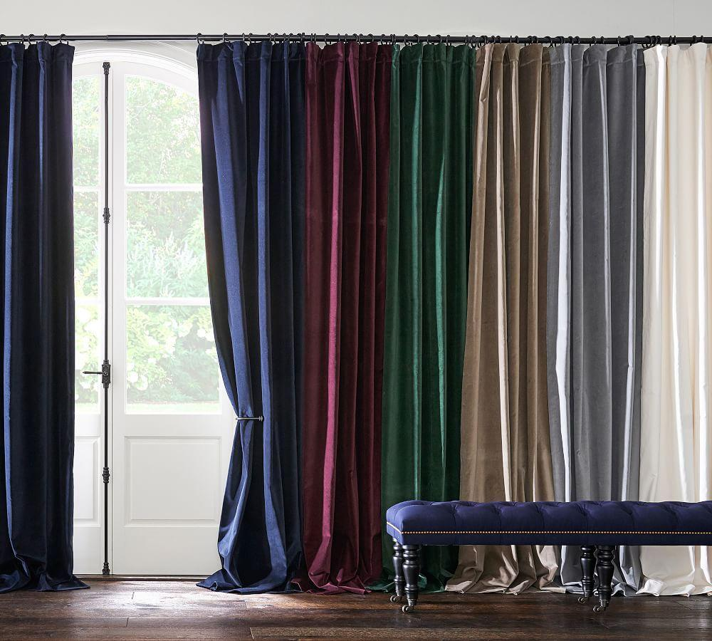 Velvet Twill Curtain - Flagstone