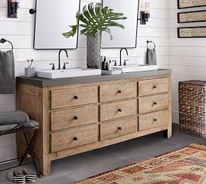 Mason Double Sink Vanity - Wax Pine