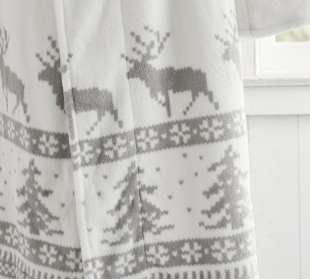 Fair Isle Plush Robe