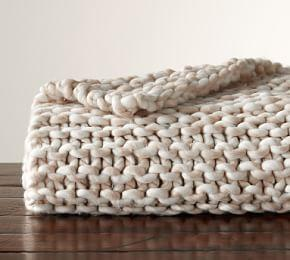 Chunky Handknit Throw