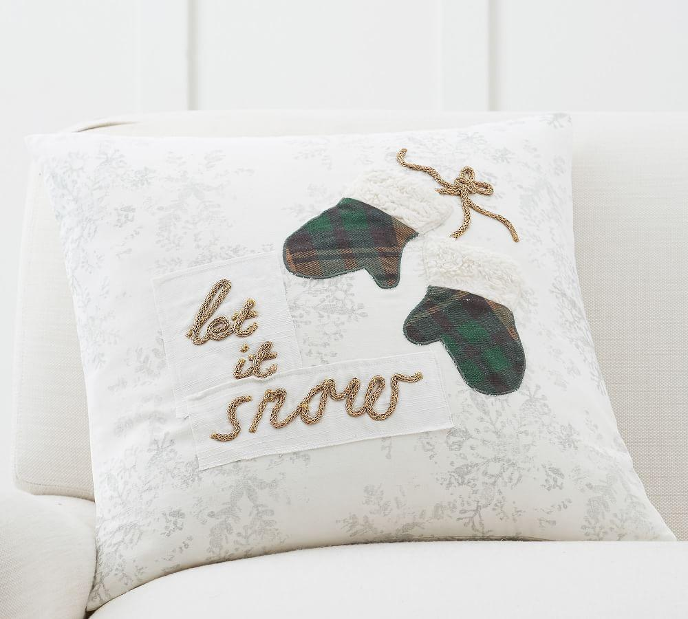 Let It Snow Mittens Pillow Cover