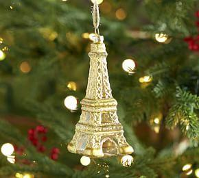 Eiffel Tower Glass Ornament
