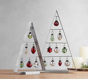 Galvanized Ornament Trees
