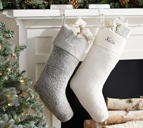 Personalized Faux Fur Plush Stockings