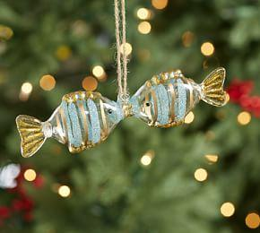 Kissing Fish Glass Ornament
