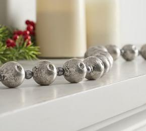 Mercury Glass Ball Garland