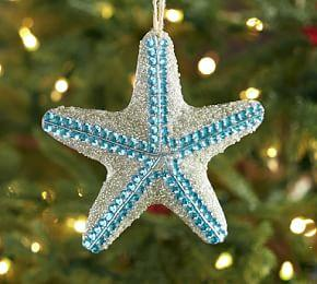 Blue Sparkle Starfish Ornament