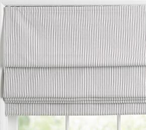 The Emily & Meritt Ticking Stripe Cordless Shade