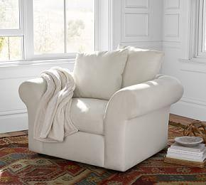 PB Air Roll Arm Upholstered Armchair