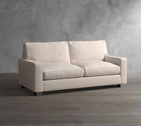 PB Comfort Square Arm Upholstered Sleeper Sofa With Memory Foam Mattress