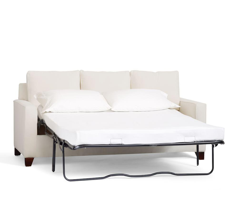 Cameron Square Arm Upholstered Sleeper Sofa with Memory Foam Mattress