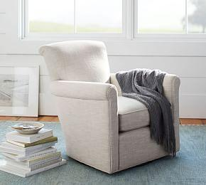 Irving Upholstered Swivel Armchair