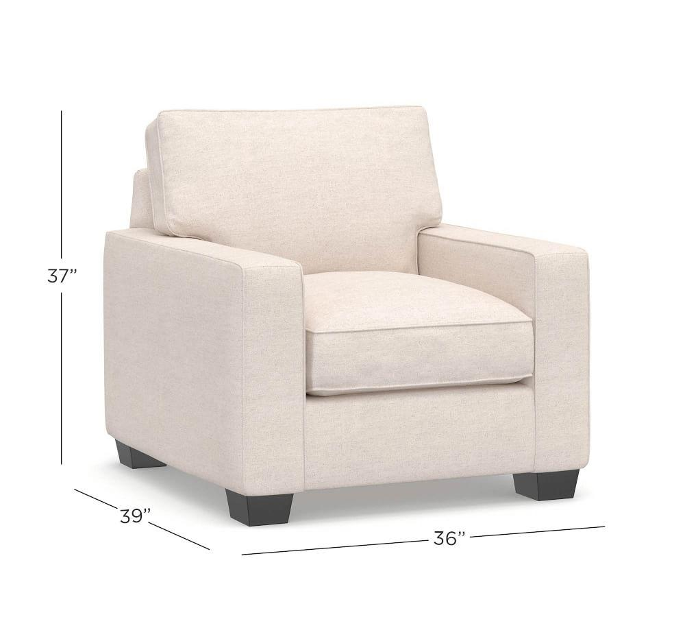 PB Comfort Square Arm Upholstered Armchair