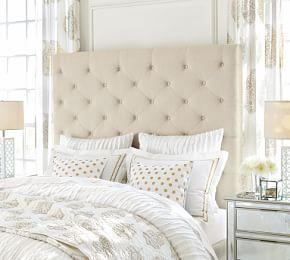 Lorraine Tufted Tall Upholstered Headboard