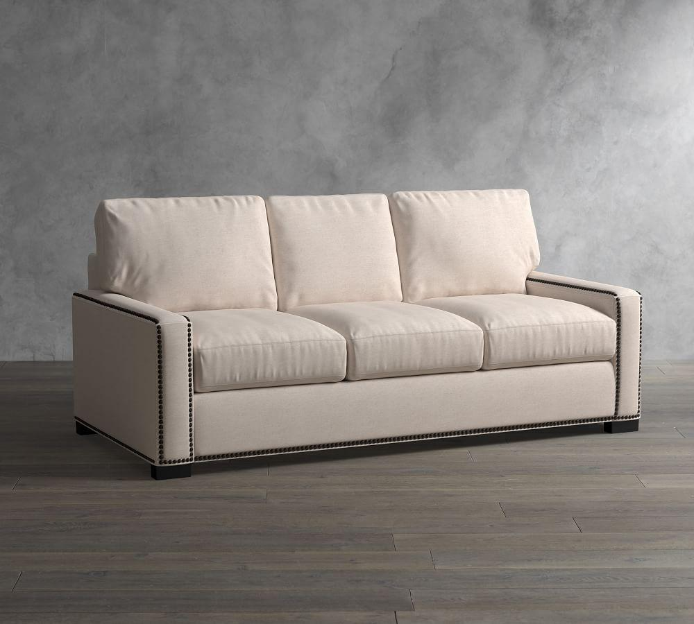 Turner Square Arm Upholstered Sofa with Nailheads