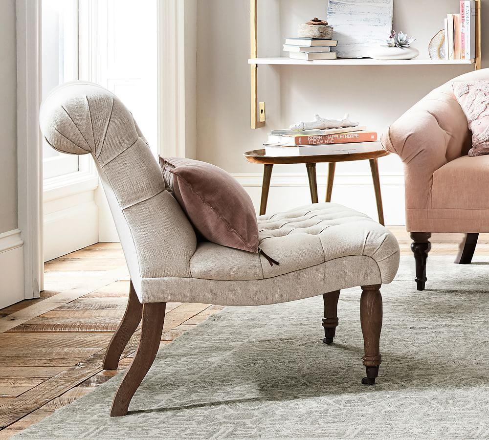 Carolyn Tufted Slipper Chair
