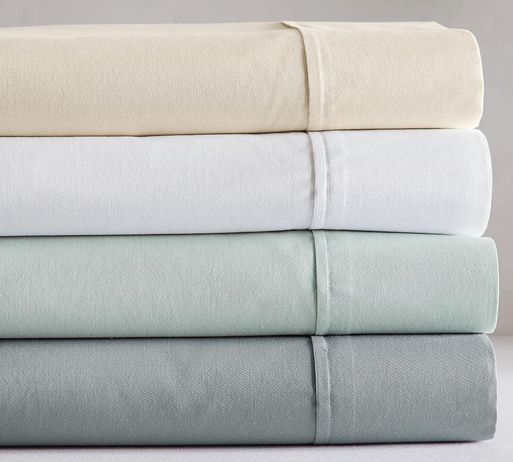 PB Essential 300-Thread-Count Fitted Cotton Sheet