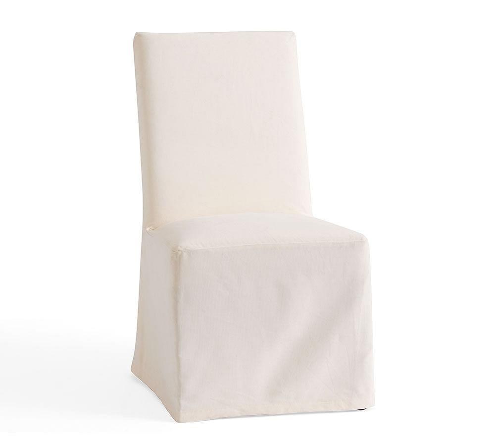 PB Comfort Square Slipcovered Dining Chairs