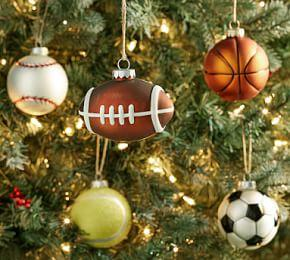 Mercury Glass Sports Ball Ornaments