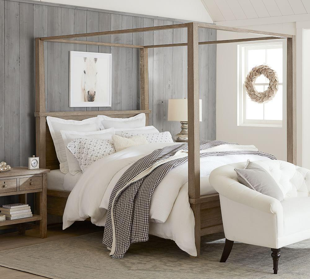 Farmhouse Canopy Bed Pottery Barn Ca