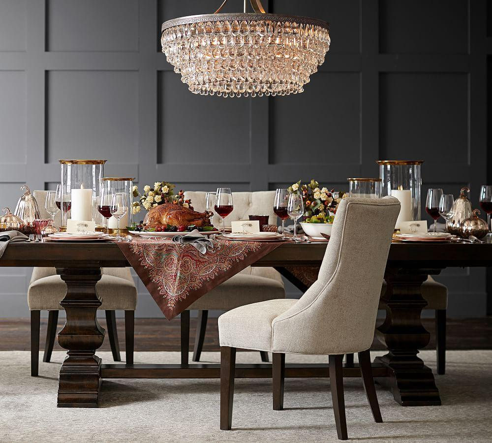 Hayes Tufted Dining Chair Pottery Barn Ca
