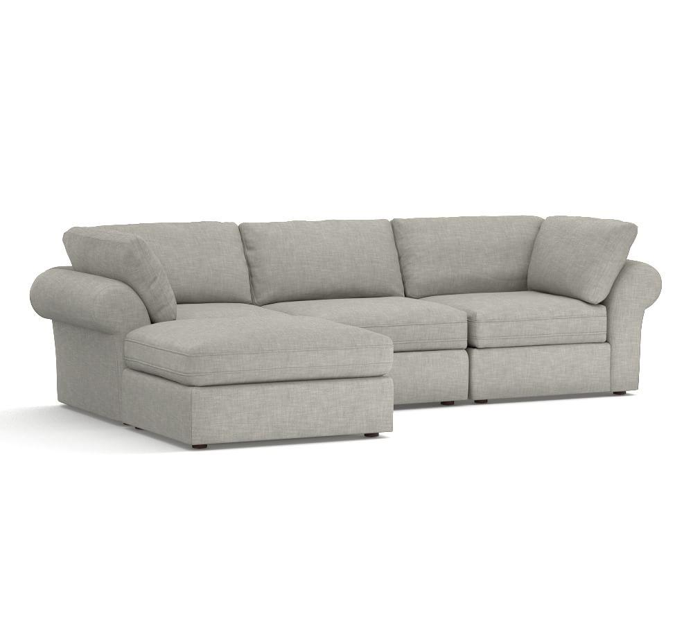 Pb Air Roll Arm Upholstered 4 Piece Sofa Chaise Sect