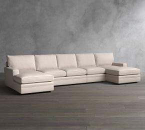 Pearce Square Arm Upholstered 4 Piece U-Chaise Sectional