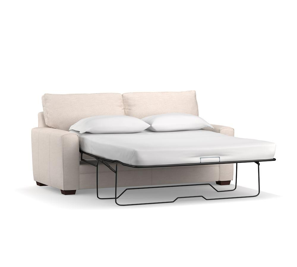 Pearce Square Arm Upholstered Sleeper Sofa with Memory Foam Mattress