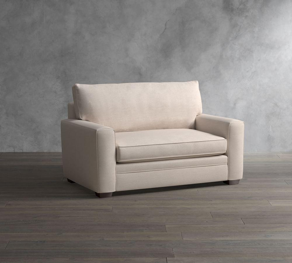 Pearce Square Arm Upholstered Twin Sleeper Sofa with Memory Foam Mattress