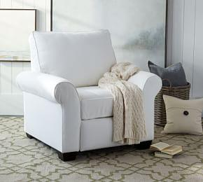 PB Comfort Roll Arm Upholstered Recliner