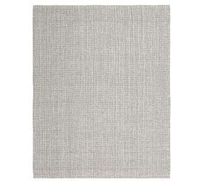 Chunky Wool And Jute Rug Gray Ivory Pottery Barn Ca
