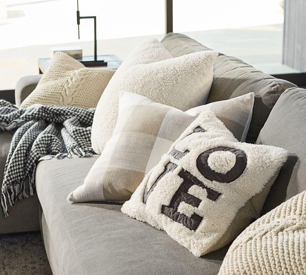 Love Sherpa Pillow Cover