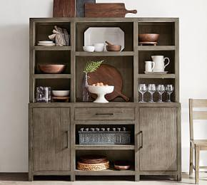 Landon Reclaimed Wood Buffet & Hutch Set