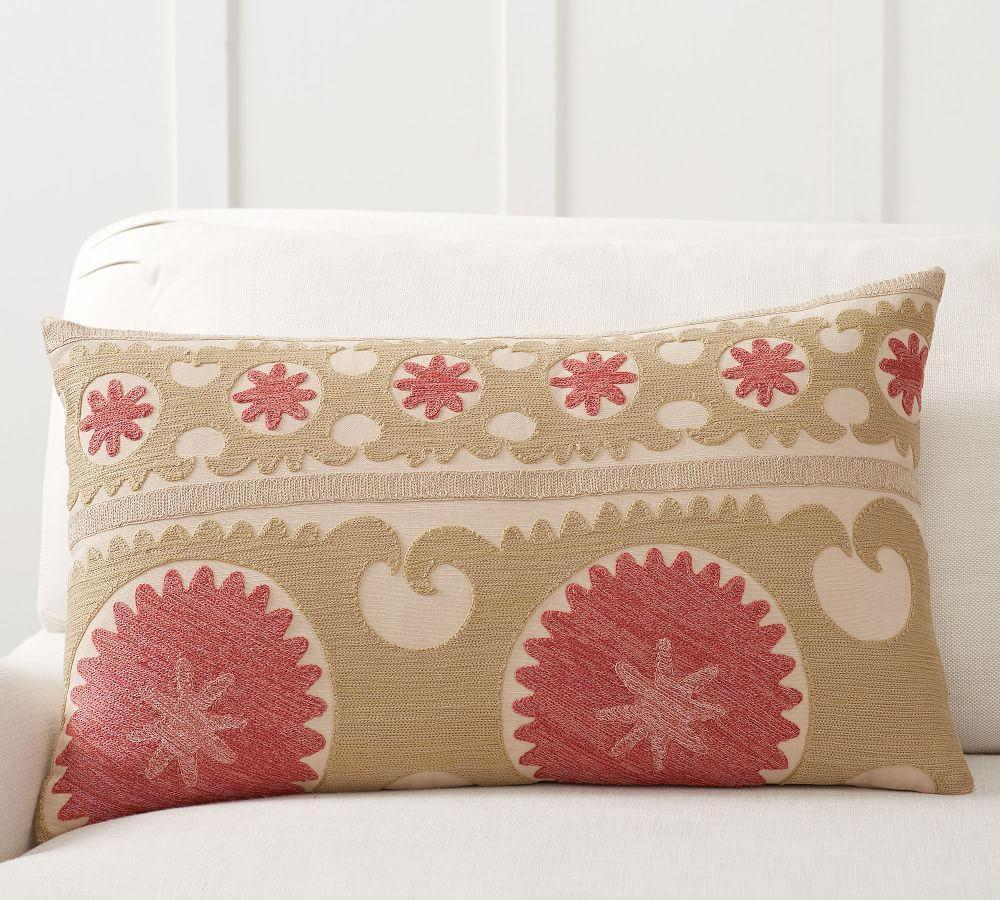 Somers Embroidered Pillow Cover