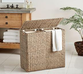 Seagrass Divided Hamper