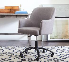 Dublin Upholstered Swivel Desk Chair