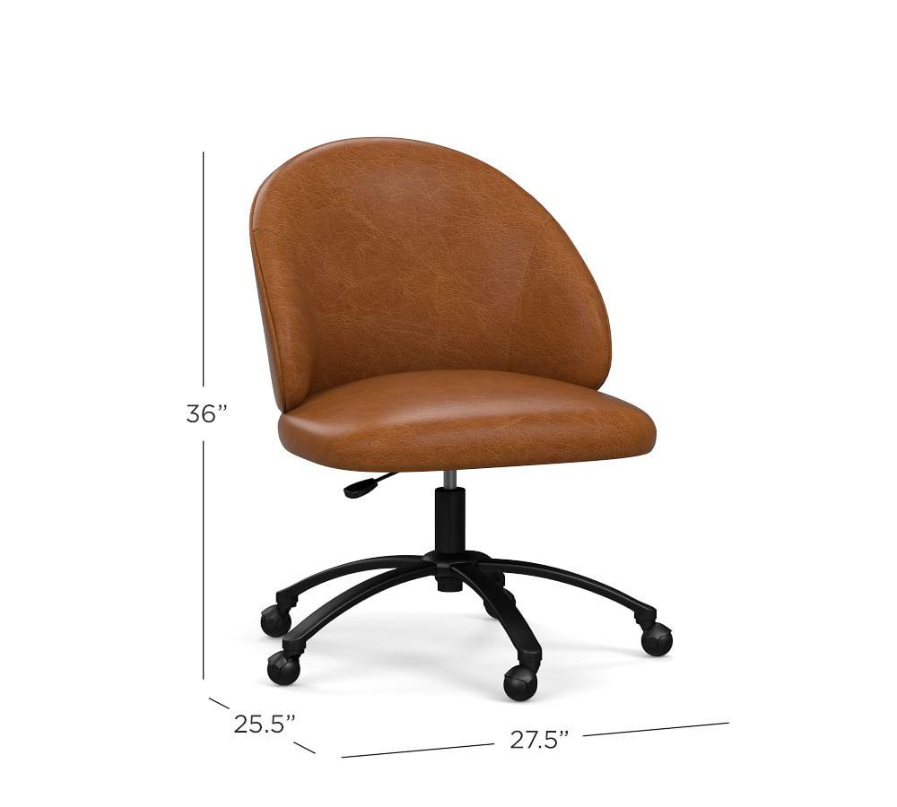 Ryker Leather Swivel Desk Chair