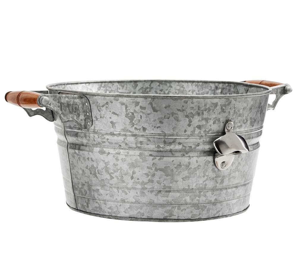 Rivet Galvanized Party Bucket, Small