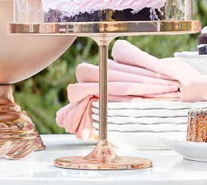 Monique Lhuillier Rose Gold Dessert Stand- Large