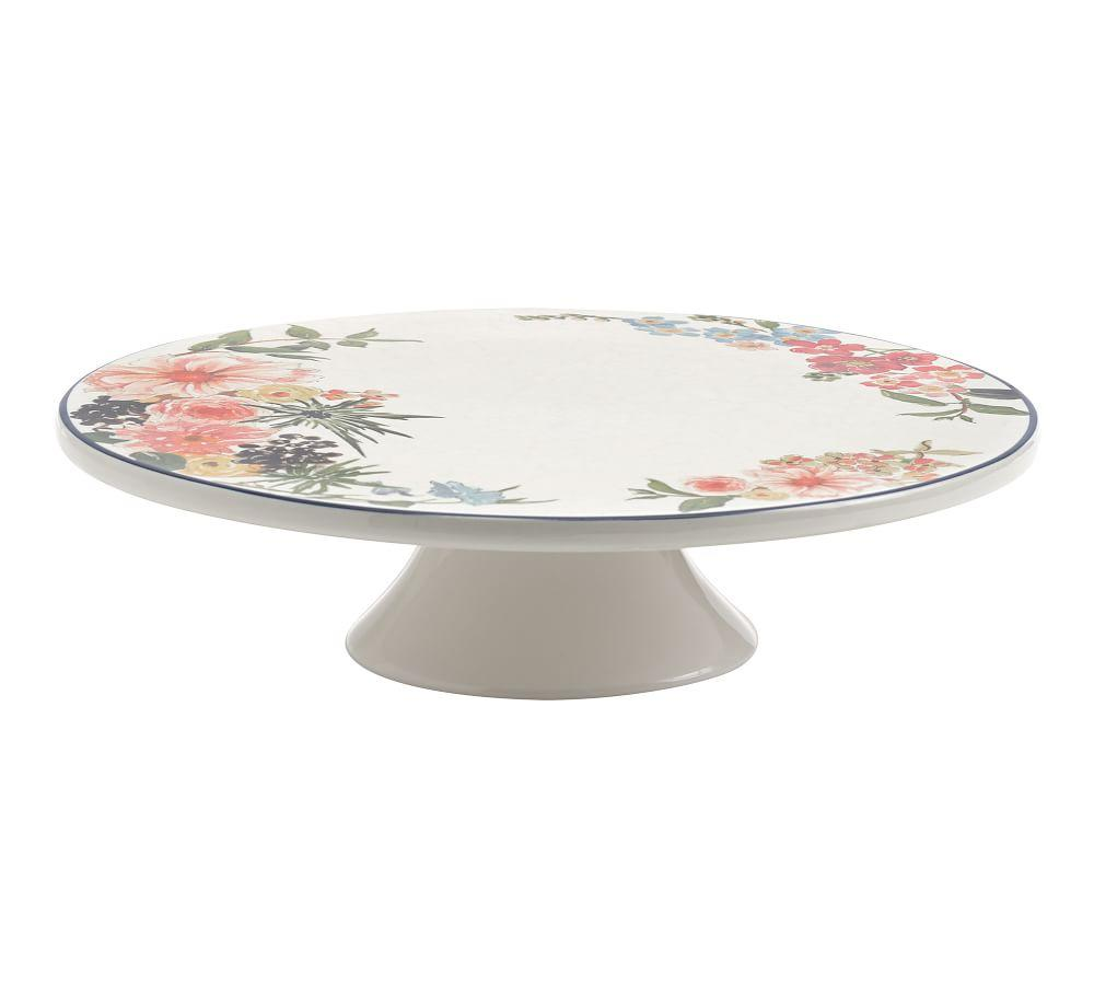 Floral Rim Cake Stand