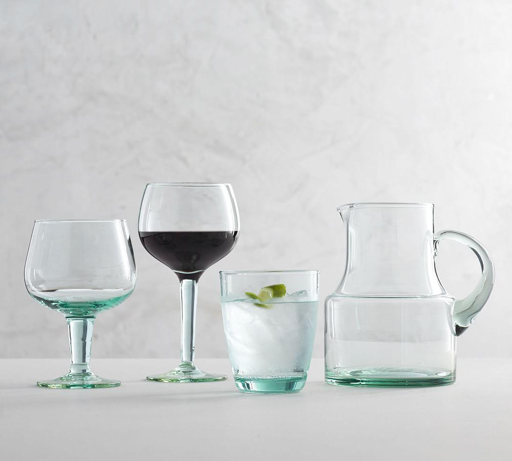 Leon Recycled Stemmed Wine Glass, Set of 6