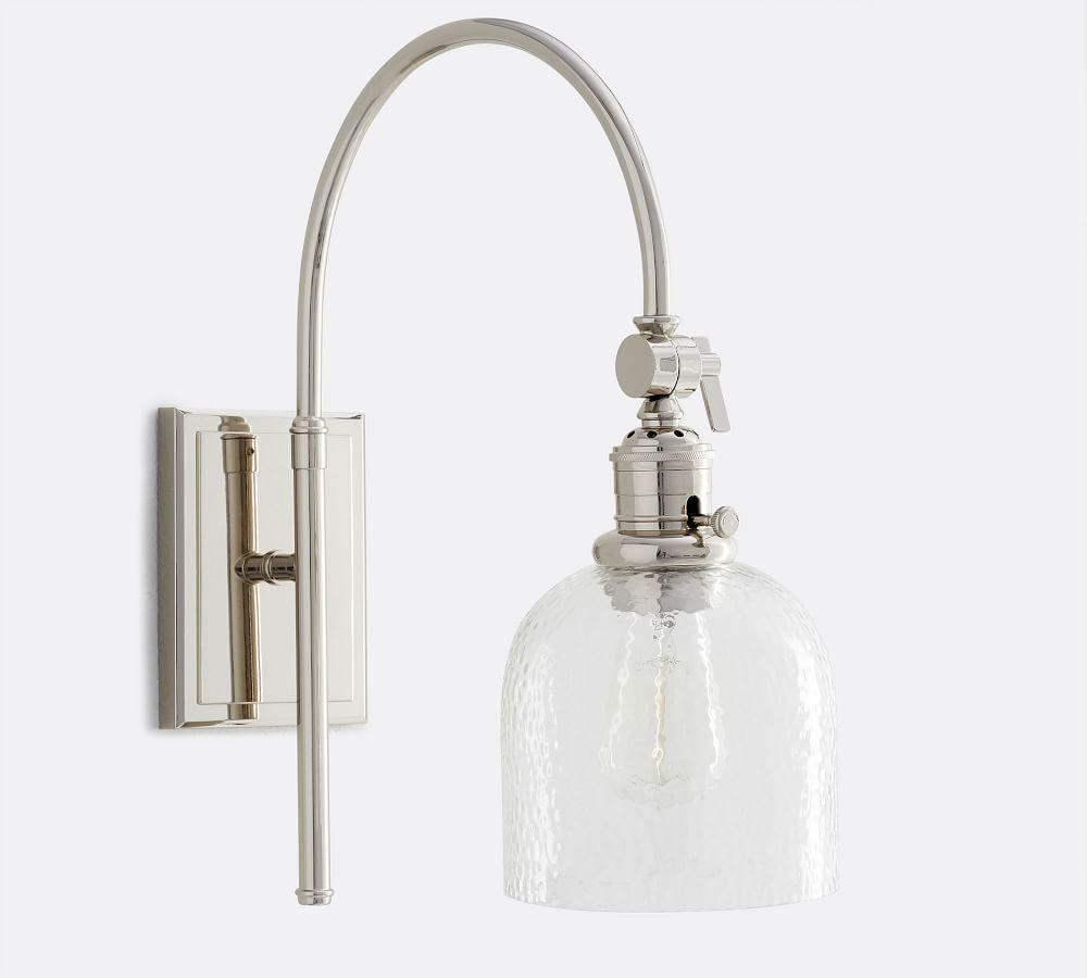 PB Classic Arc Sconce - Textured Glass