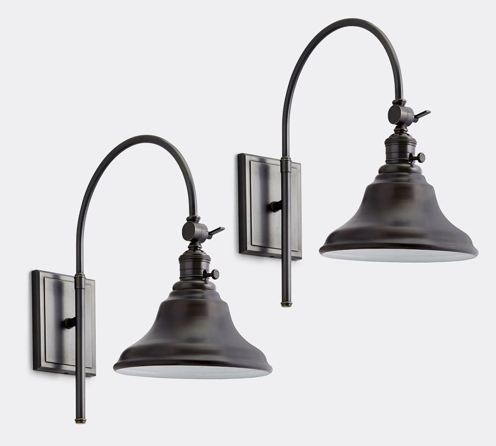 PB Classic Arc Sconce - Curved Metal Bell
