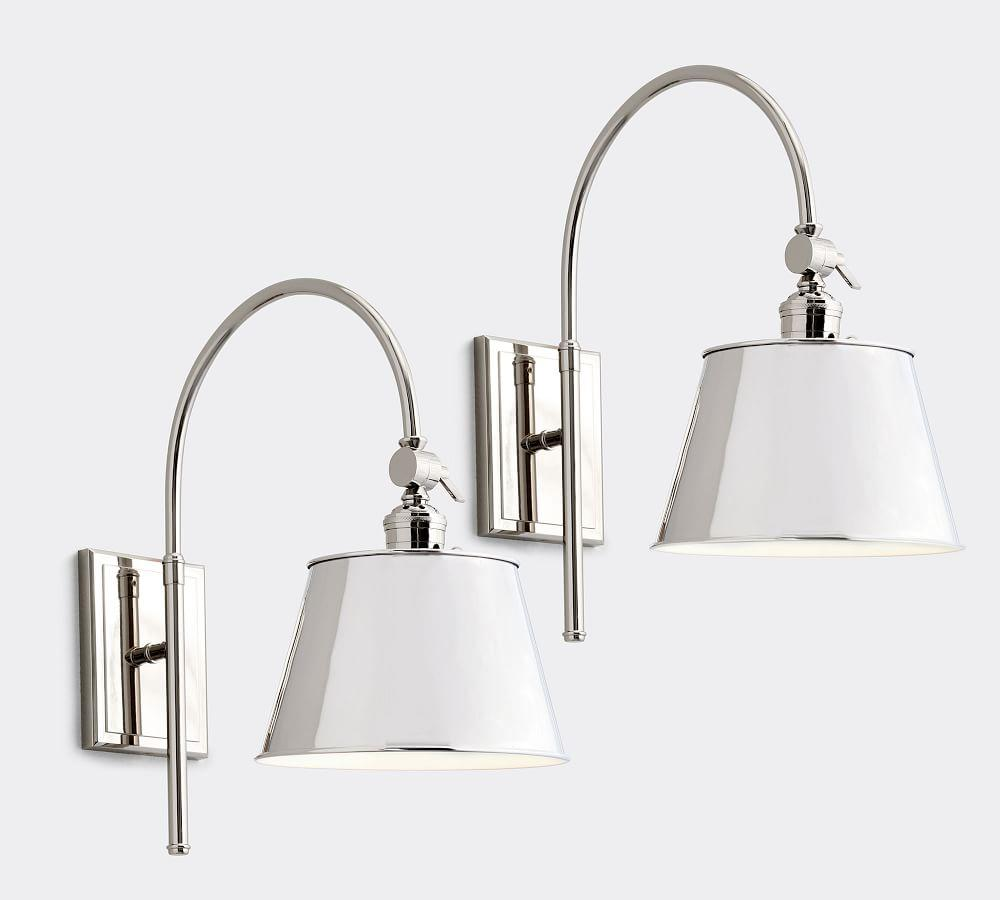 PB Classic Arc Sconce - Tapered Metal Shade